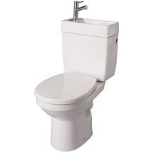 Pack WC à poser au sol avec Lave-mains intégré DOPPIO 2