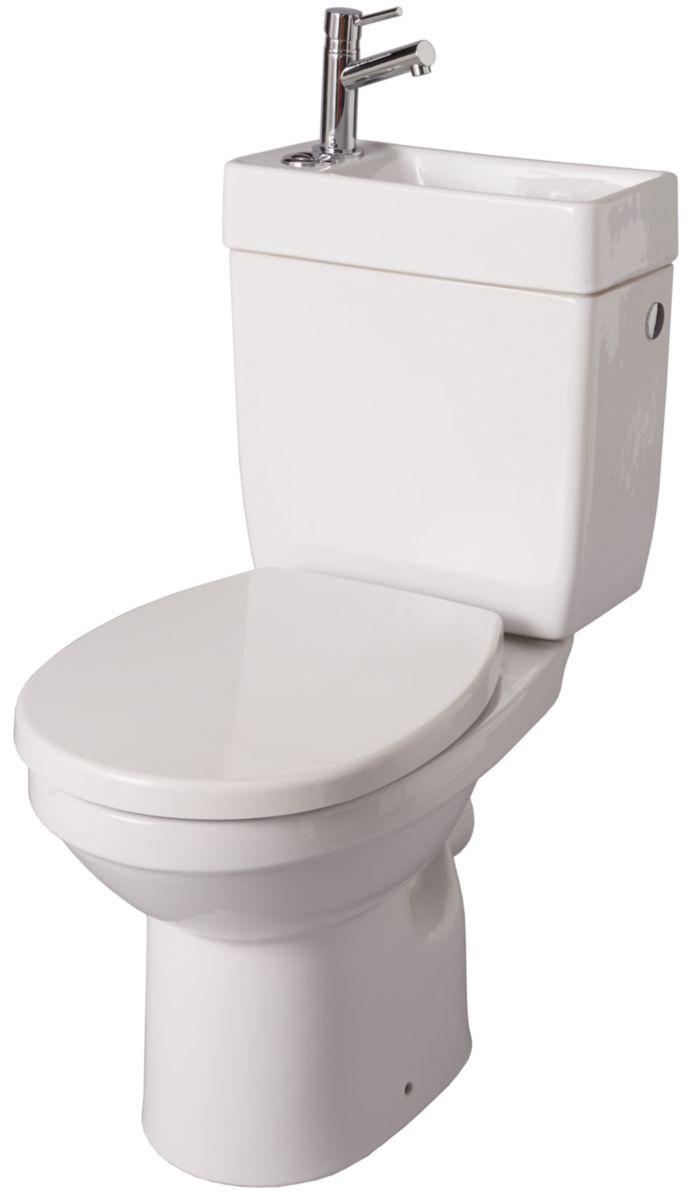 Réservoir Avec Lave Mains Intégré : alterna pack wc avec lave mains int gr doppio 2 blanc brossette ~ Nature-et-papiers.com Idées de Décoration