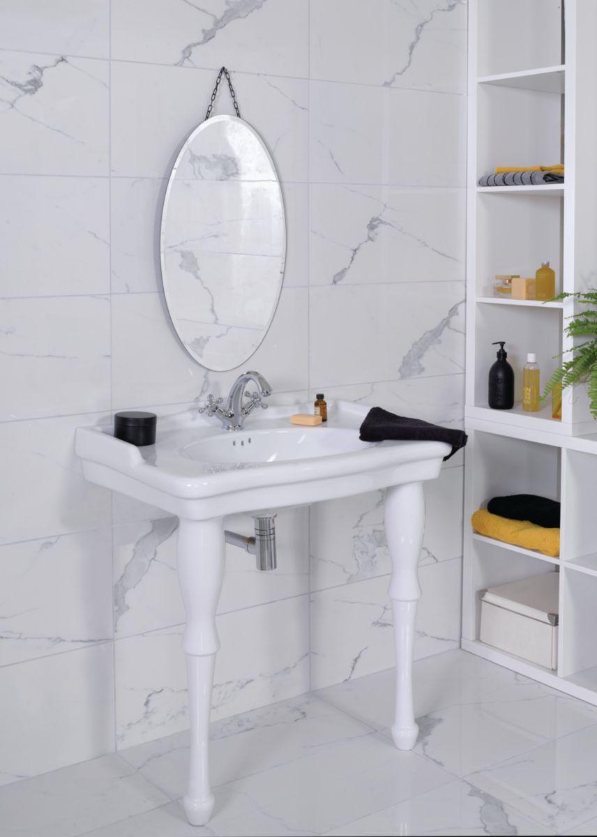 Lavabo Antica 80x54 cm blanc