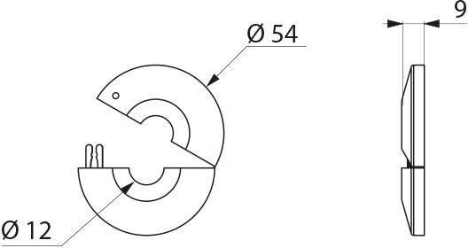 Rosaces ouvrantes diamètre 12 chromées (lot de 2) Réf : 824012.2P