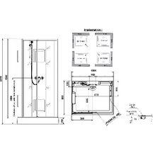 cabine de douche izibox rectangle 100x80cm installation en angle quipement confort avec. Black Bedroom Furniture Sets. Home Design Ideas