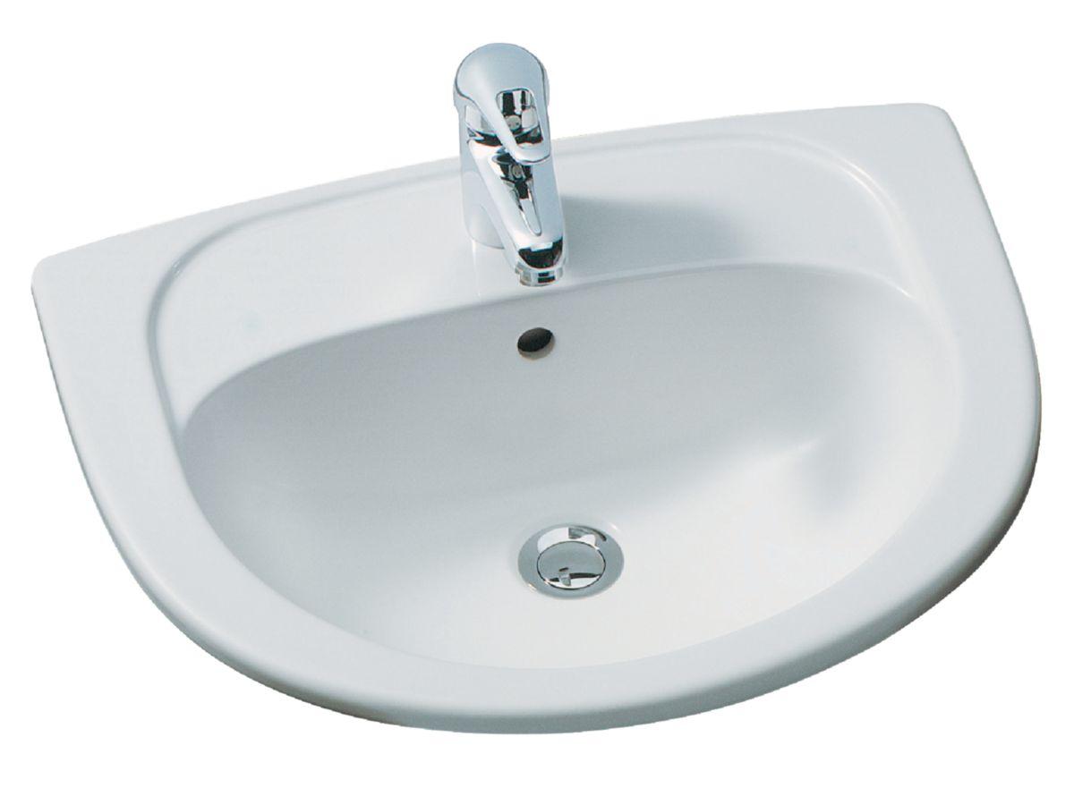 ALTERNA - Vasque à encastrer CONCERTO 55 x 45,5 cm, blanc | Cedeo