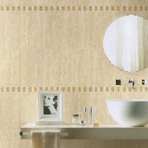 Carrelage mural int�rieur fa�ence Pure Marbre Beige Travertino - 25x38 cm
