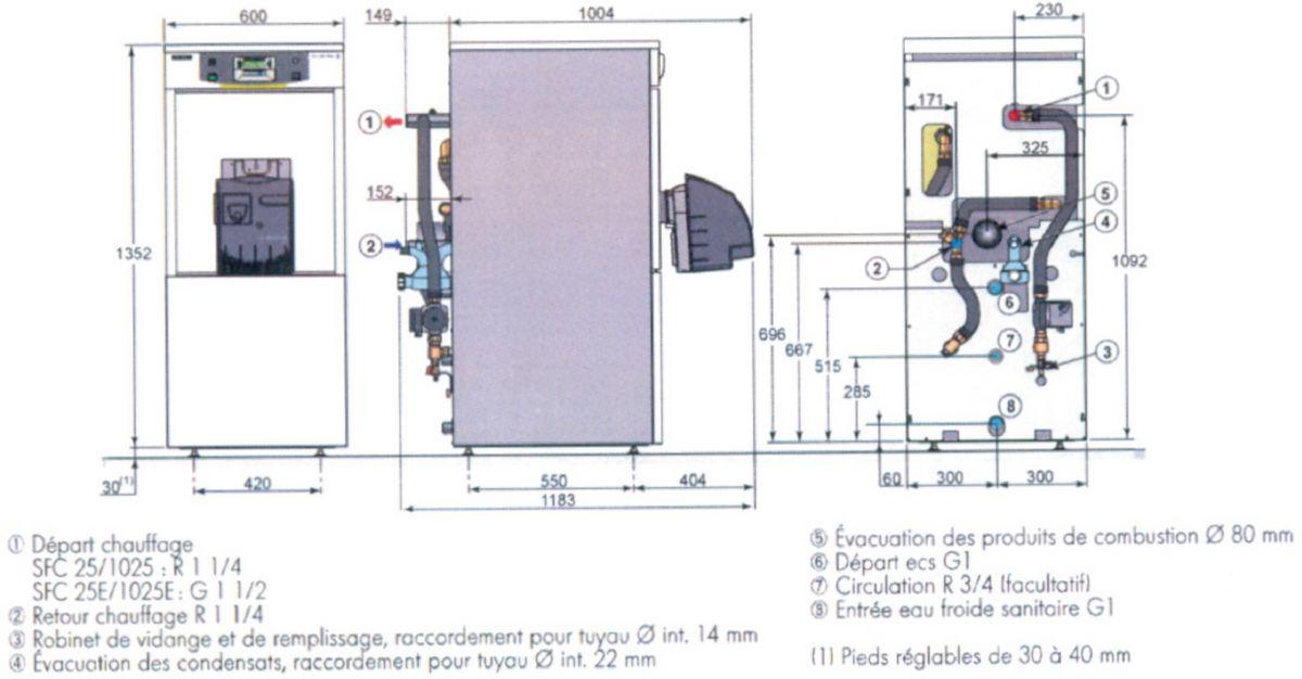 de dietrich chaudi re sol condensation wingo sfc 1025. Black Bedroom Furniture Sets. Home Design Ideas