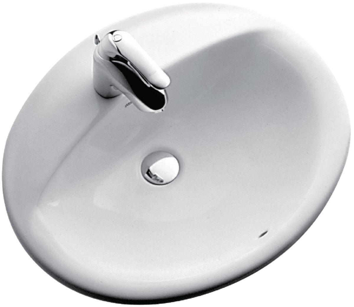 vasque a encastrer Vasque à encastrer ALOA 56 x 47,5 cm, avec trop-plein, ...