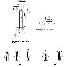 el ment de radiateur en fonte horizontal dune mod le d 6. Black Bedroom Furniture Sets. Home Design Ideas