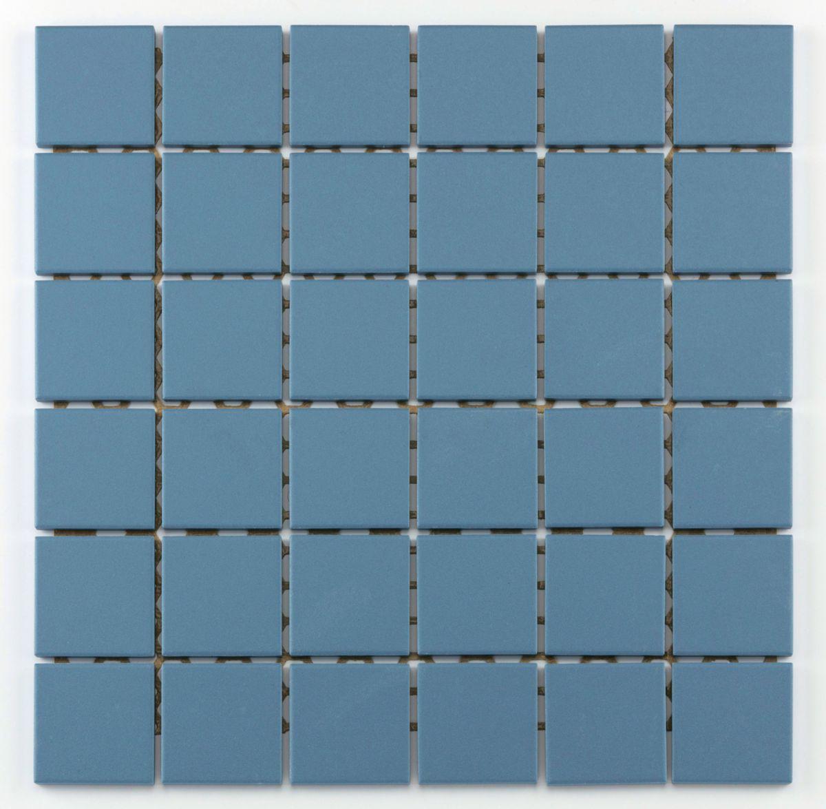 Mosaïque antidérapante céramique Grip blue - 4,7x4,7x0,6 cm - trame 30x30 cm