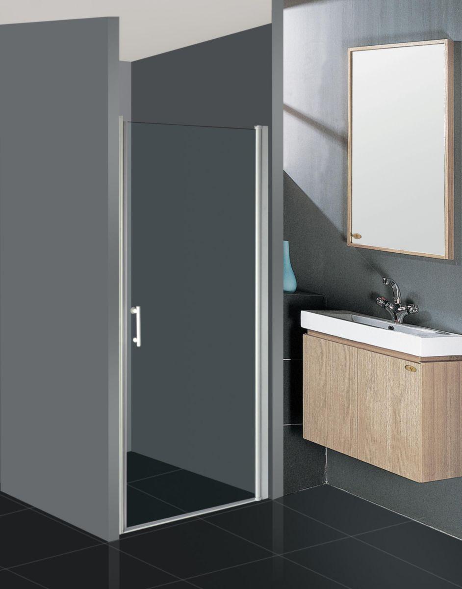 Alterna paroi de douche vers 39 eau acc s de face porte pivotante int grale 90 cm cedeo - Porte coulissante pour douche de 130 cm ...
