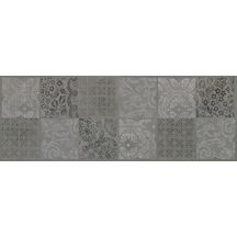 Carrelage mural int�rieur d�cor Dream inserto square graphit - 25x70 cm