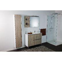meuble sous vasque plenitude 105 cm 2 tiroirs 1 porte pour vasque d p38 blanc bois alterna. Black Bedroom Furniture Sets. Home Design Ideas