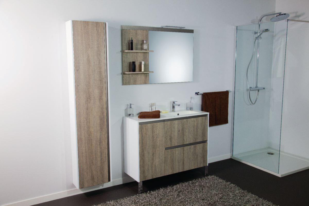 ALTERNA - Meuble sous vasque Plenitude 105 cm 2 tiroirs 1 porte pour ...