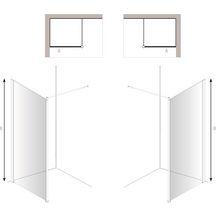 paroi de douche pleine hauteur en verre de s curit 6 mm 800 x 1950 mm montage mural r f. Black Bedroom Furniture Sets. Home Design Ideas