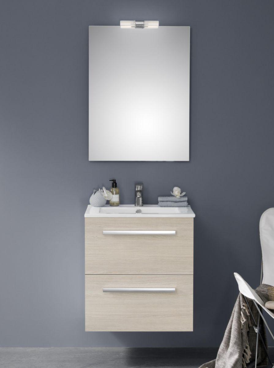 Alterna meuble 2 tiroirs 60 cm concerto bois clair cedeo - Woodstock meubles ...