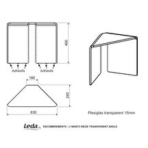 Si�ge d'angle ind�pendant transparent r�f L1900872