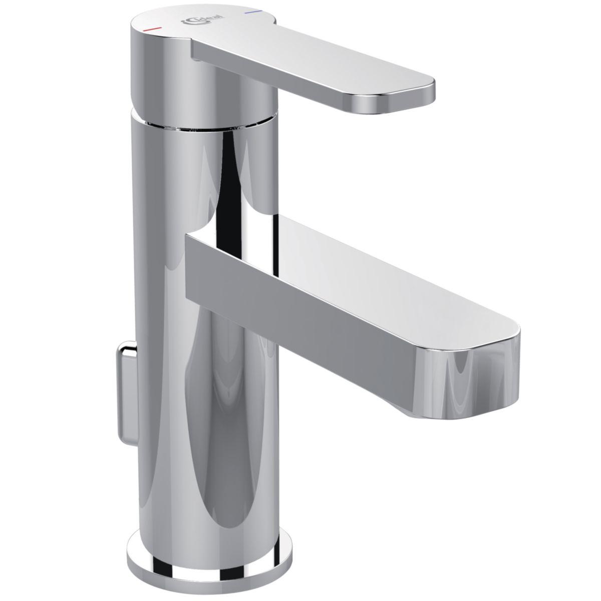 ideal standard mitigeur de lavabo monotrou kheops design avec tirette et bonde polypropyl ne. Black Bedroom Furniture Sets. Home Design Ideas