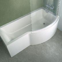 baignoire asym trique droite encastrer ou poser connect en acrylique 170x70 90cm avec trop. Black Bedroom Furniture Sets. Home Design Ideas
