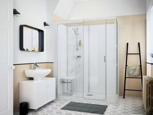Cabine de douche rectangulaire accès de face KINEDO DOUCHE