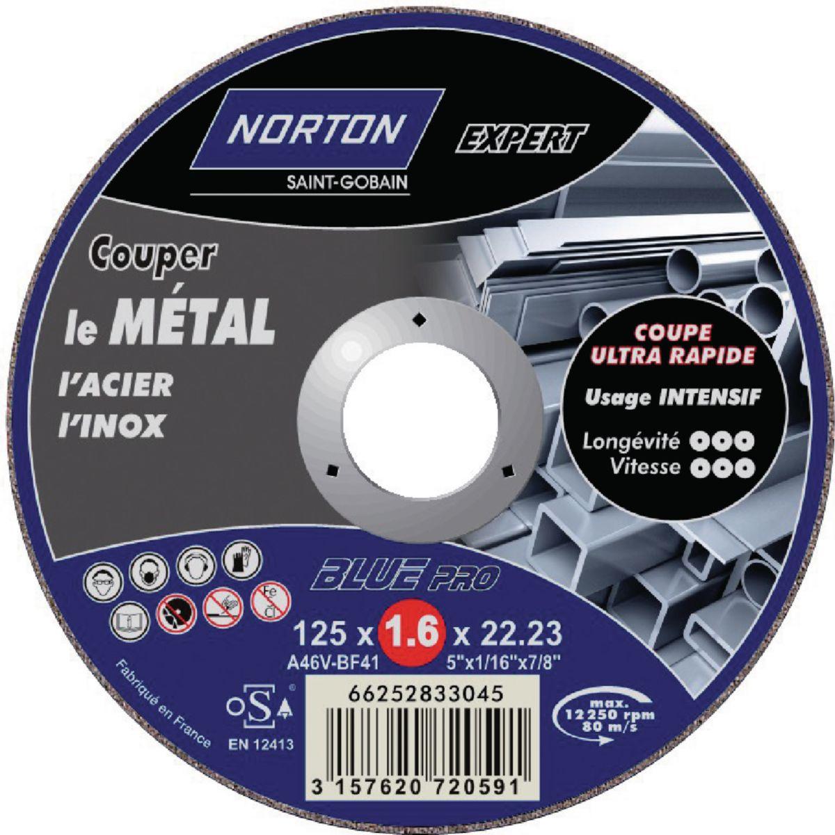 Disque à tronçonner BLUE PRO 200 METAL D125x1,6mm