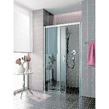 Portes coulissantes acc s de face parois de douche douche sanitaire - Paroi de douche cedeo ...