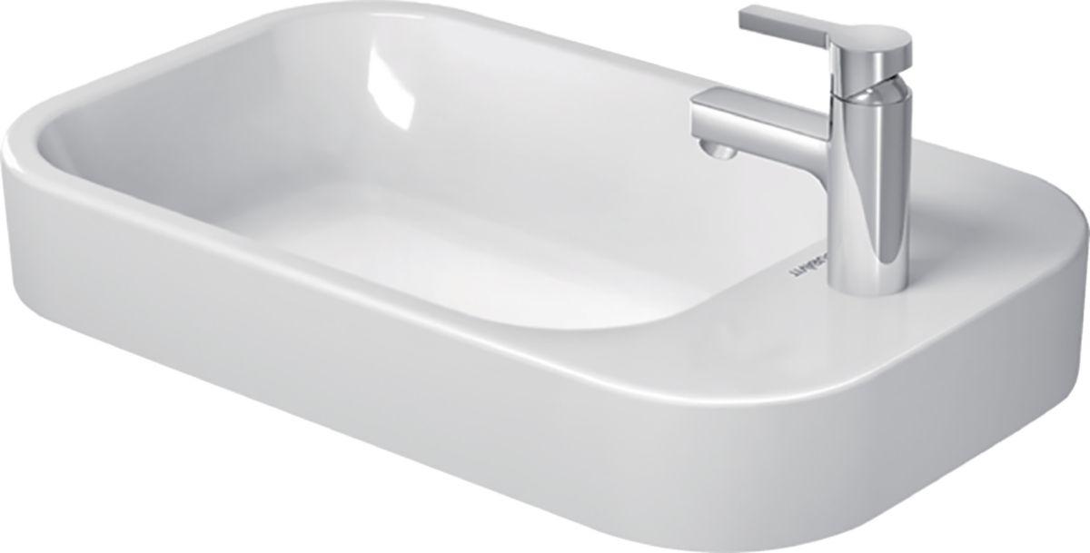 Vasque a poser 65 cm Happy D.2 blanc plage robinet lateral Réf. 2317650000