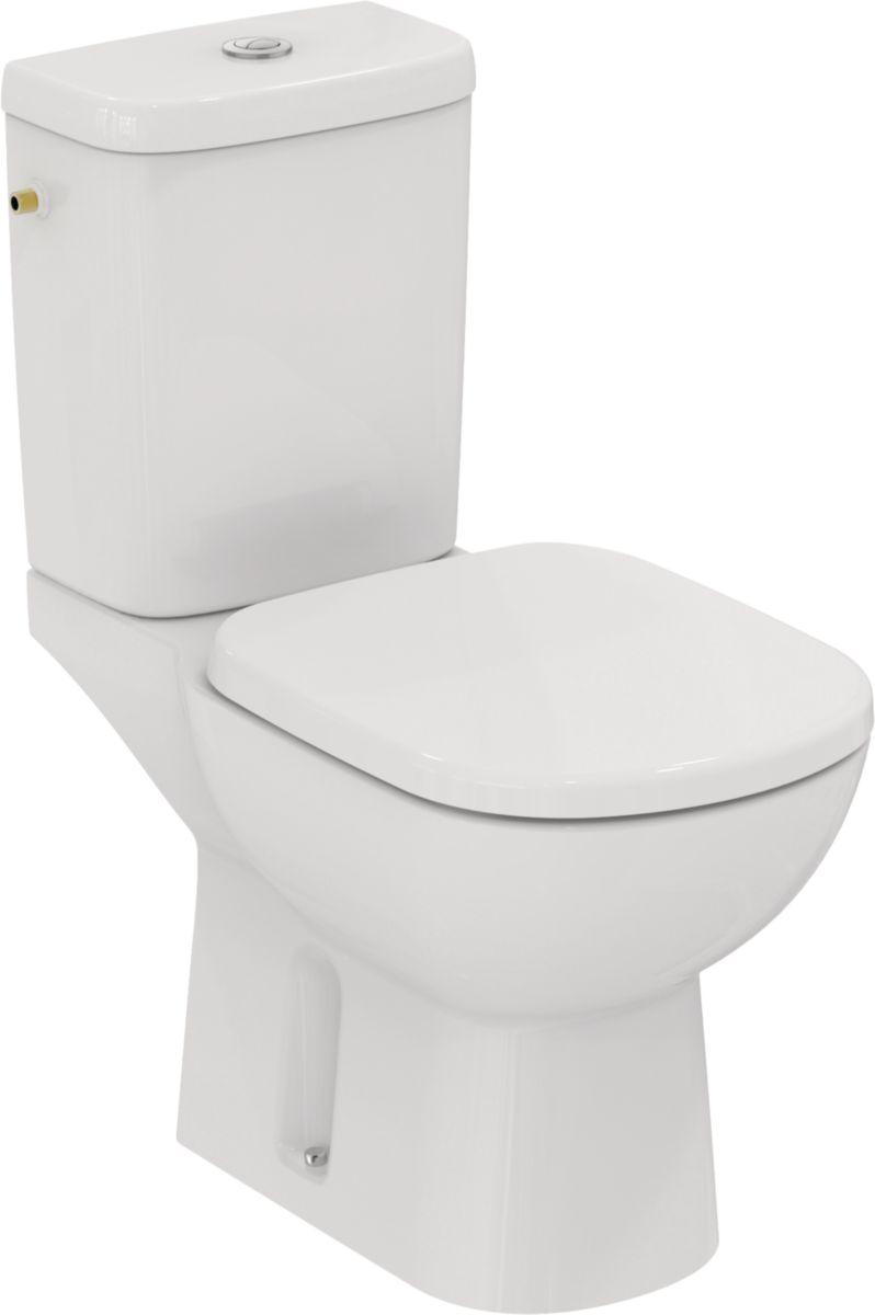 Pack WC KHEOPS +, Prêt à poser avec abattant, Sortie horizontale, blanc Réf. T330401