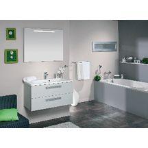 meuble sous vasque seducta 90 cm 2 tiroirs gris perle. Black Bedroom Furniture Sets. Home Design Ideas