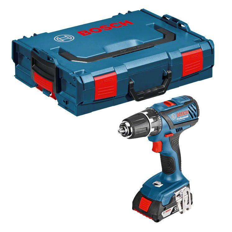 Perceuse visseuse 18V GSR 18-2-LI Plus + 63 acc + L-Boxx, réf. 0615990H27