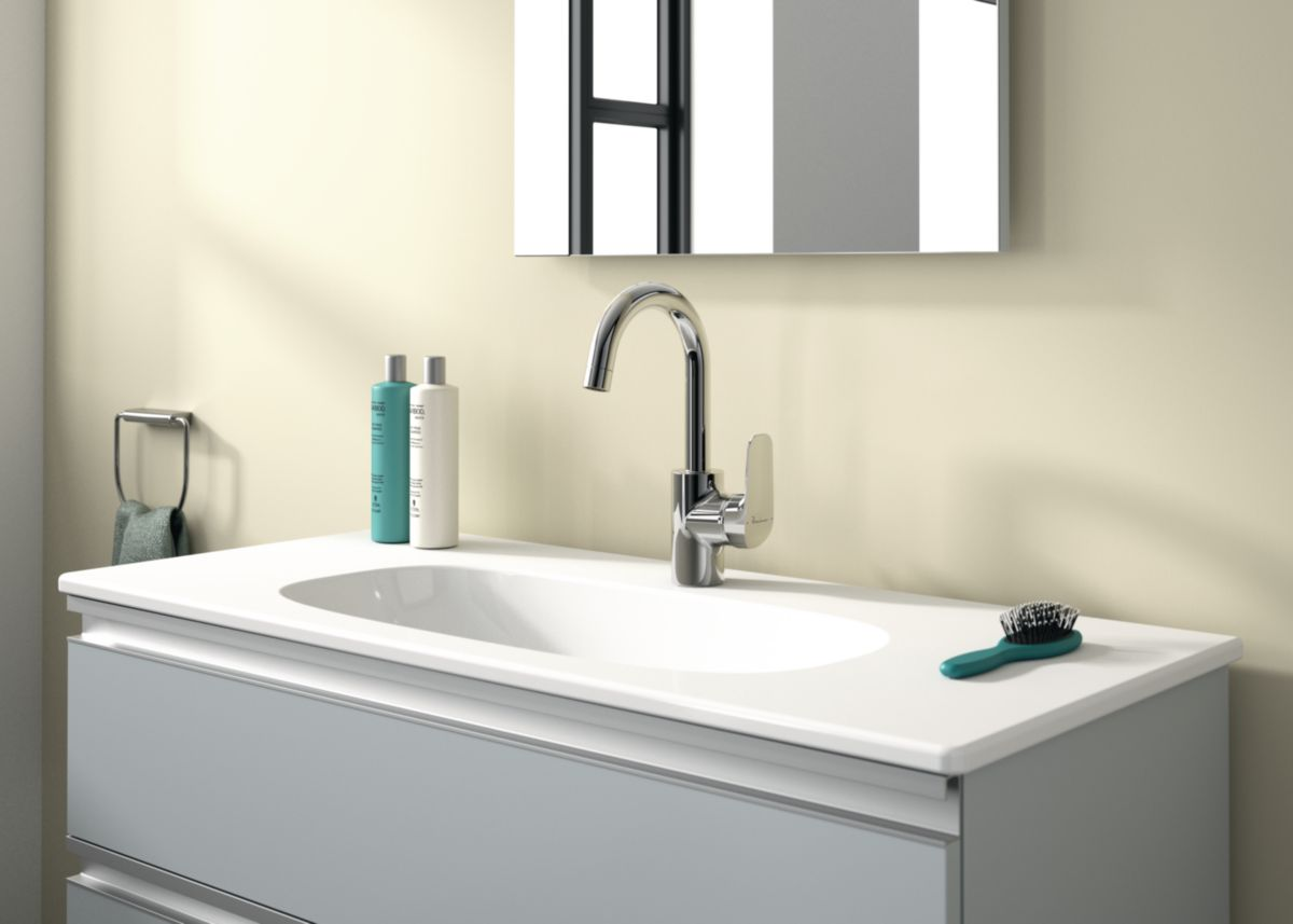Mitigeur lavabo Okyris bec tube ht vidage polypro chrome réf. D0572AA