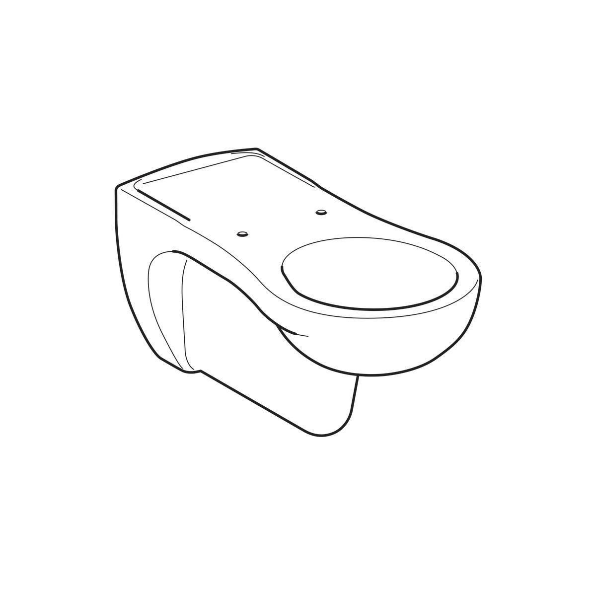 Largeur Wc Suspendu Geberit wc suspendu à fond creux geberit vitalis, rallongé: t=70cm, blanc réf.  201500000