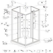 cabines de douche douches pi ces de rechange sanitaire pi ces de rechange cedeo. Black Bedroom Furniture Sets. Home Design Ideas