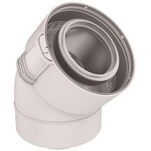 condensation Gaz Fioul Blanc R/éf UBBINK-Conduit Sekurit 60 100 PPTL PVC Longeur 2000 mm 229304