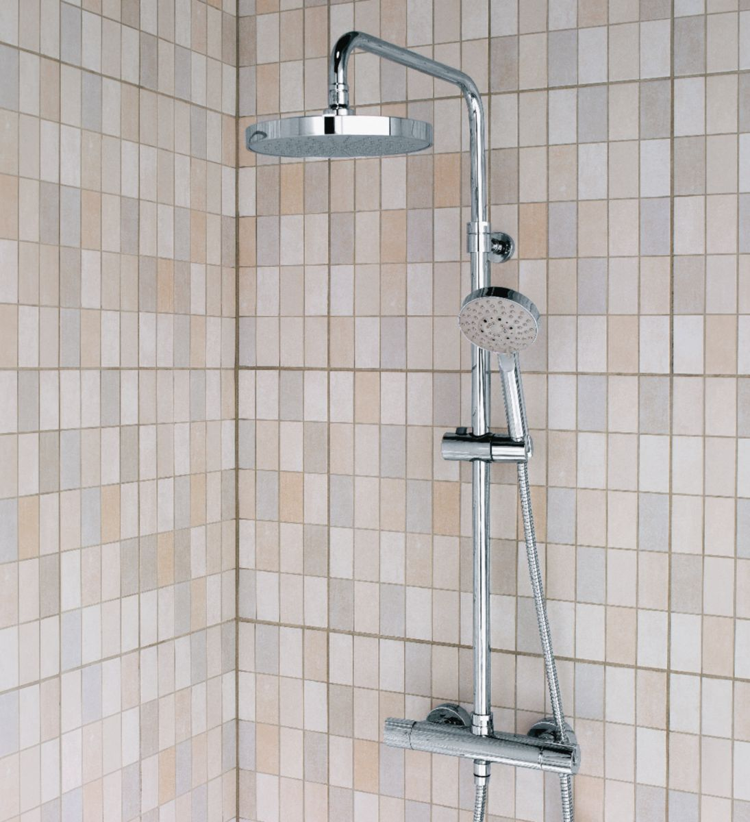 alterna colonne de douche concerto avec mitigeur thermostatique chrom cedeo. Black Bedroom Furniture Sets. Home Design Ideas