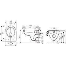 pack wc suspendu court avec abattant prima blanc r f 08390300000200 allia sanitaire cedeo. Black Bedroom Furniture Sets. Home Design Ideas