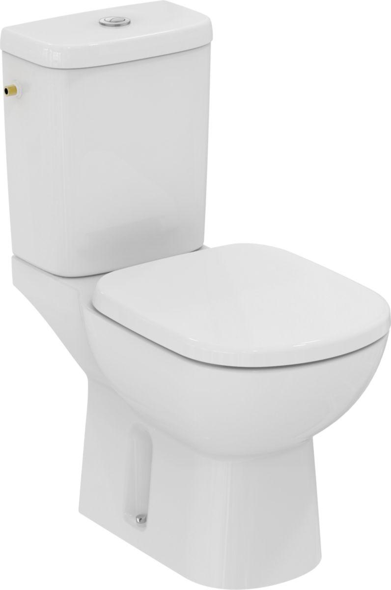 pack wc kheops pr t poser avec abattant sortie verticale blanc r f t330601 ideal standard. Black Bedroom Furniture Sets. Home Design Ideas