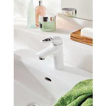 Mitigeur lavabo EUROSTYLE blanc, C3, avec vidage