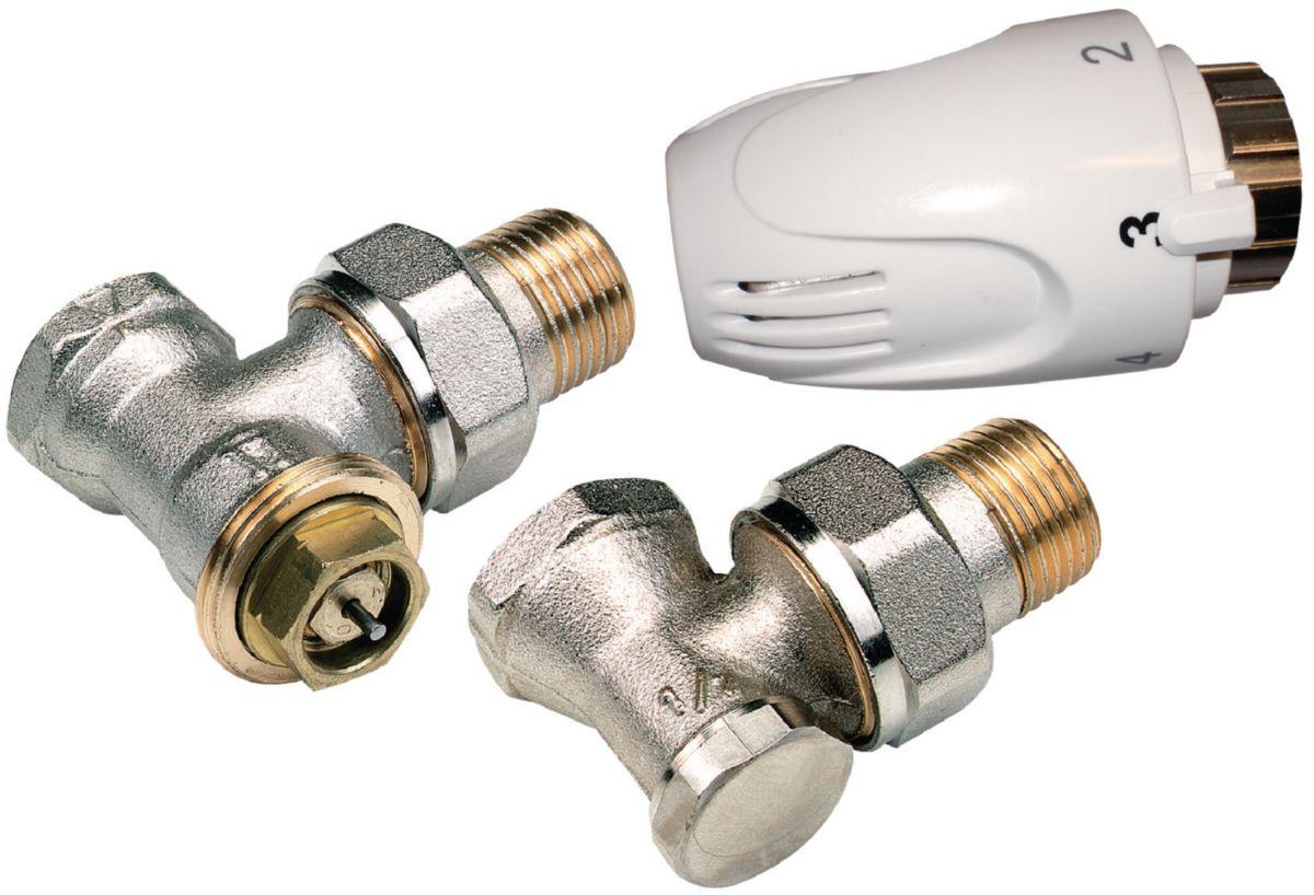 kit thermostatique altech querre 15x21 altech chauffage et climatisation cedeo - Radiateur Avec Robinet Thermostatique