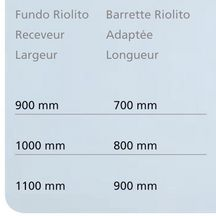 Barrette finition Riolito inox � carreler 700x40x18 mm R�f. 67-67-97/015