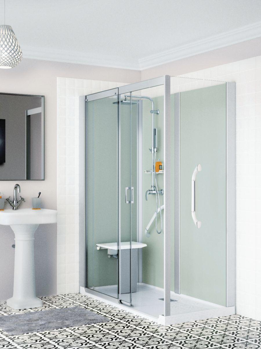 Remplacement de baignoire KINEMAGIC SÉRÉNITÉ accès de face coulissante