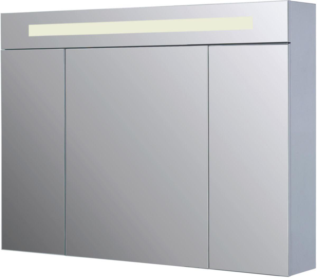 Hauteur Armoire De Toilette armoire de toilette seducta 90 cm avec éclairage led