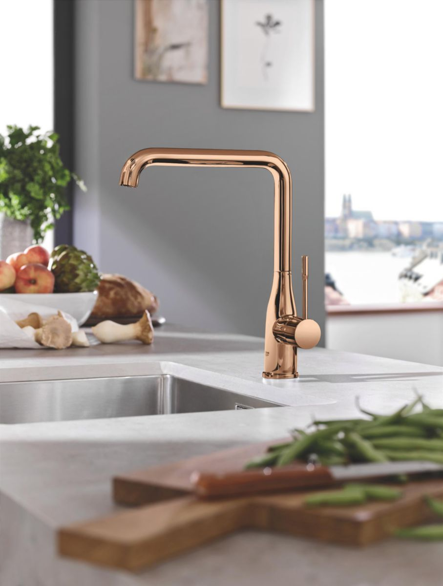 Grohe Mitigeur Evier 1 2 Essence Bec L Finition Warm Sunset Ref