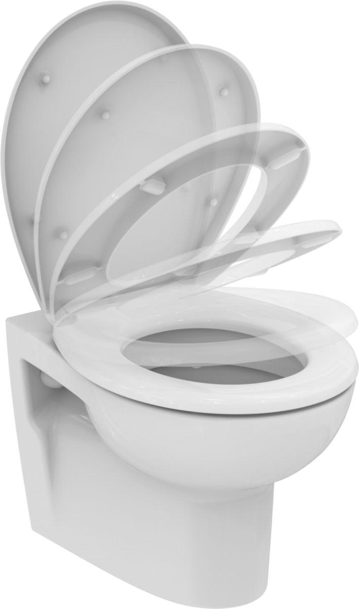 Pack WC suspendu Hercule avec abattant standard, blanc Réf. E300501
