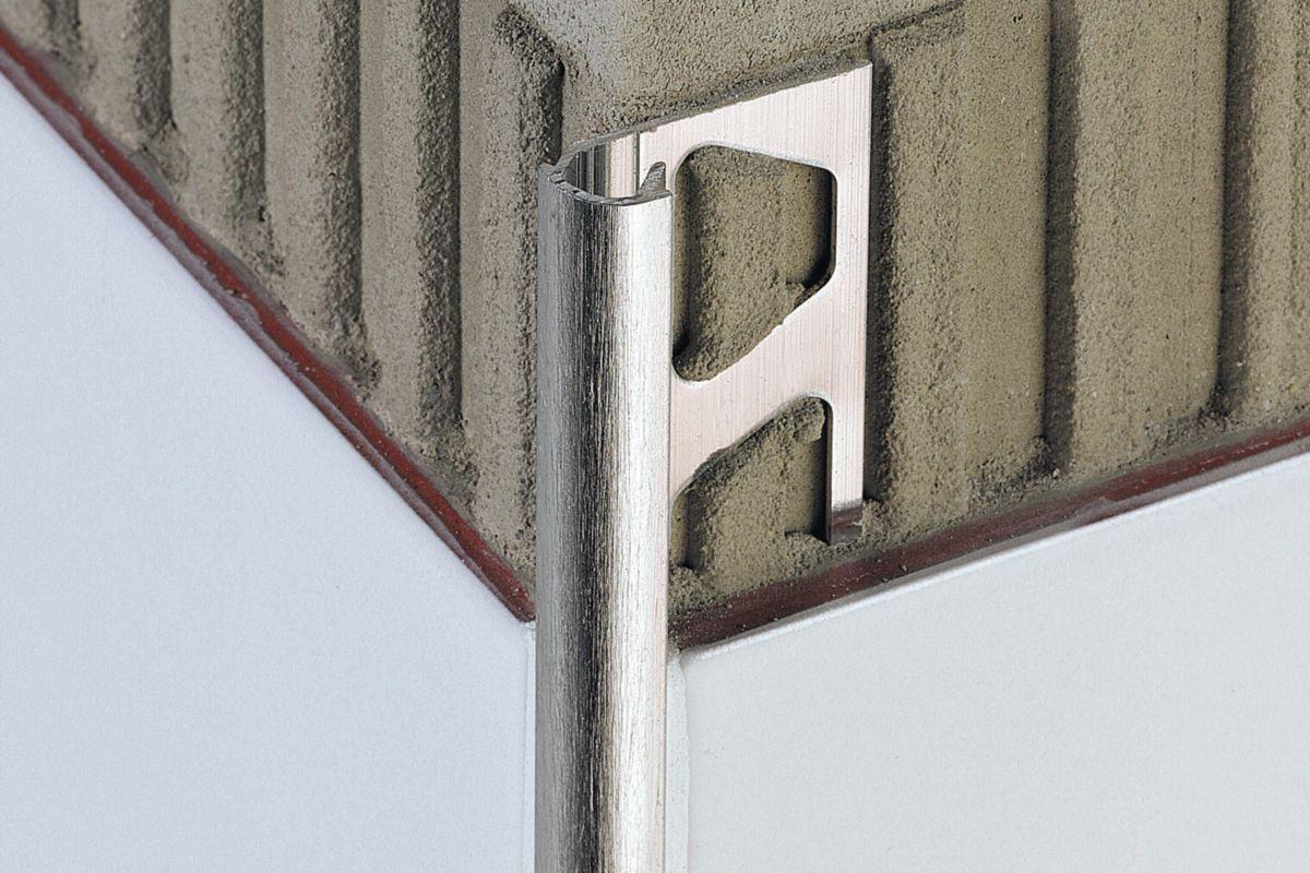 Profilé mural Schlüter®-RONDEC-ACG aluminium chromé anodisé - H. 10 mm x L. 2,5 m