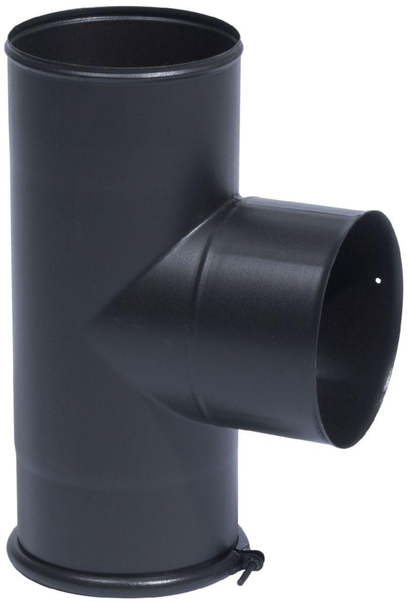 Té équerre avec tampon noir mat diamètre 150 mm réf. 346401