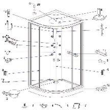 Douches pi ces de rechange sanitaire pi ces de - Pieces detachees cabine de douche aurlane ...