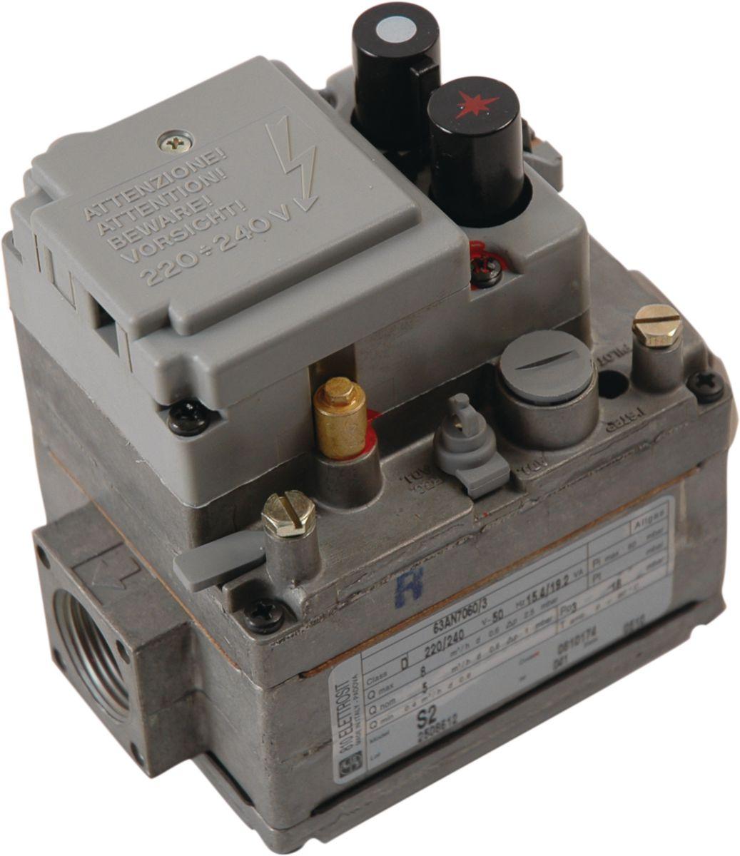 Bloc gaz régulation SIT 810.174 20x27 Bloc de régulation à 2 boutons de commande, 1régulateur, 1 électrovanne. Réf. 810174