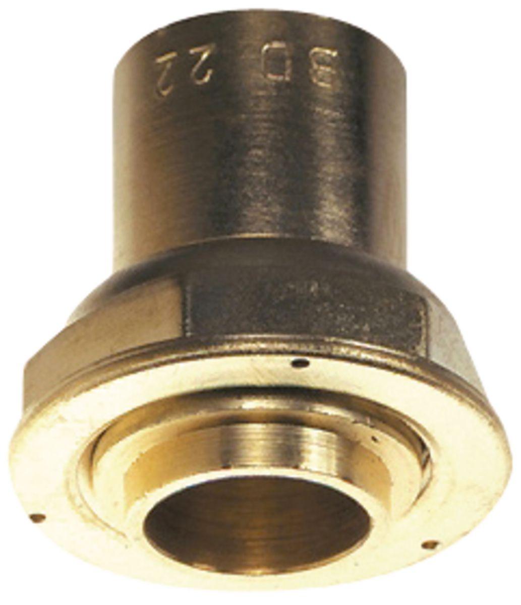 Raccord droit 2 pièces à joint plat compteur à oreille BD2309CU écrou 6/20 à braser sur cuivre : 22 DN : cal. 20 réf 0230940