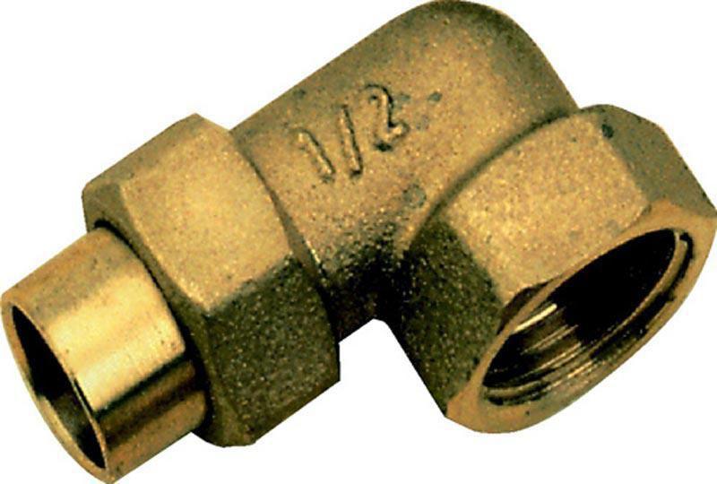Coude Union 3 pièces à visser femelle 20/27-22 8096 Gcu (sachet de 2 pièces) ALTECH