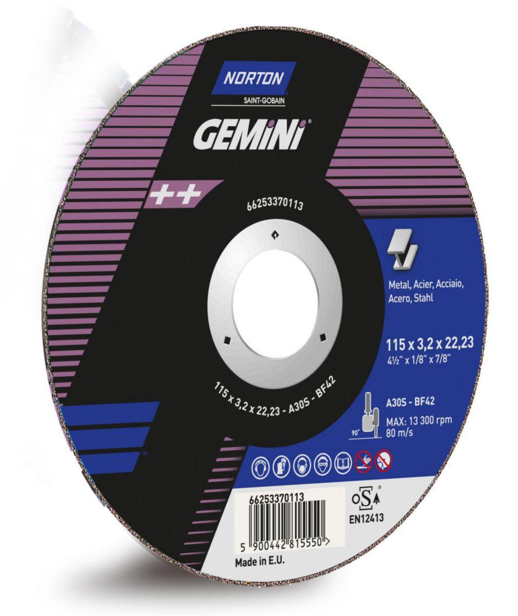 Disque à tronconner 125X1.6X22.23 Gemini inox Réf. 66253370107