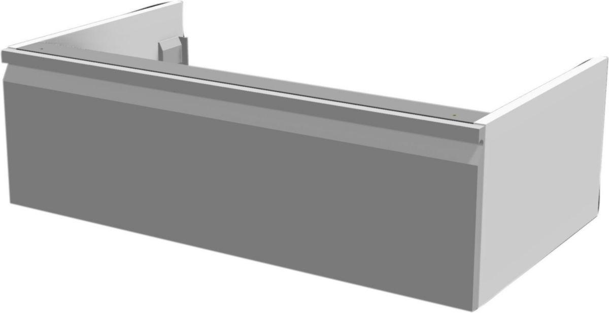 Meuble suspendu 1 tiroir finition taupe L 90 x l. 50 x H 25 cm