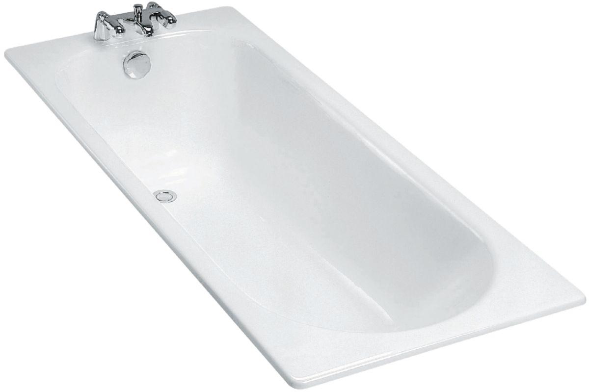 Baignoire Fonte Soissons 160x70 Sans Pieds Blanc Ref E2931 00